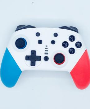 Bluetooth controller geschikt voor Nintendo Switch Pro - wit / blauw / rood