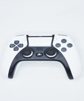 draadloze controller - duo vibra  geschikt voor Playstation 4 -wit met zwart