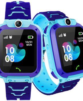 Kinder Smartwatch met frontcamera GPS-locator en SOS - blauw