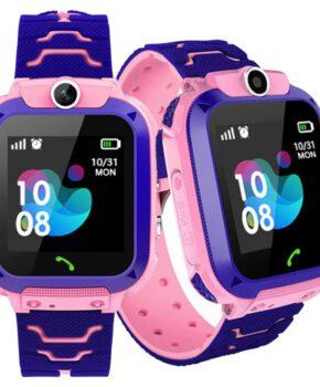 Kinder Smartwatch met frontcamera GPS-locator en SOS - roze