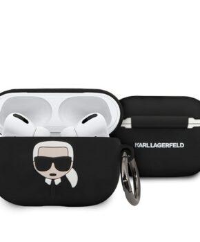 Karl Lagerfeld AirPods Pro cover -zwart Siliconen