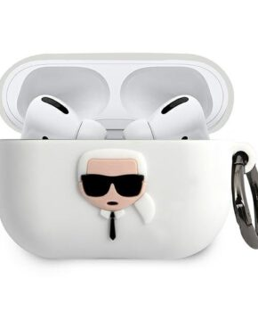 Karl Lagerfeld  AirPods Pro hoes wit -Silicone Ikonik