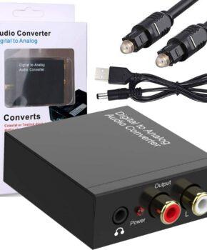 Digitaal naar Analoog audioconverter toslink met audio jack ingang